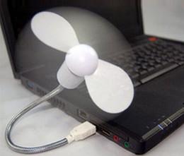 Computadoras portátiles para la venta en Línea-Mini ventilador del USB de la venta caliente que se refresca para los ordenadores de escritorio del ordenador portátil 2 ventiladores flexibles del adminículo del USB de las hojas envío libre LLFA