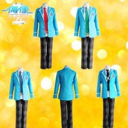 Wholesale Anime Ensemble Stars Hokuto Hidaka Narukami Arashi Aoi Yuta Cosplay Costume Full Set School Uniform Jacket Pants Necktie