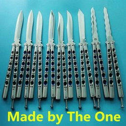 10 models benchmade balisong butterfly the one BM41 BM42 BM43 BM47 BM49 BLUE jilt knife Free-swinging camping SPRING LATCH knife 1pcs