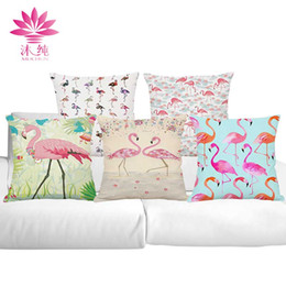 muchun Brand Flamingo Style Halloween Cotton&Linen Sofa Pillow Cover 45*45 cm Christmas Thicken Decorative Party Throw Pillow Case
