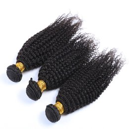 3 Pcs Lot Hot sale Brazilian Unprocessed Virgin hair weaves Human hair bundles Dyeable Natural Color Kinky Curly 10-26inch