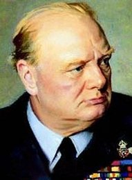 Wholesale Sir Winston Churchill Black Tie World War British genuine Pure Handpainted Portrait Art oil Painting On Thick Canvas Multi Size amaz