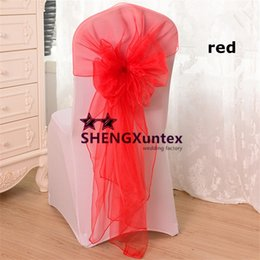 RED Color Chair Bow \ Organza Chair Sash Used For Wedding Chair Cover