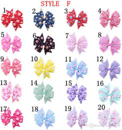 Wholesale 20pcs Girls kid Hair Accessories Baby Boutique HairBows Hairclips Grosgrain Ribbon Pinwheel newbornHair Bow with clips for Headband