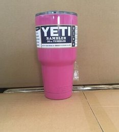 Wholesale Europe and the United States the yeti cup stainless steel vacuum cup double cold car automotive glass beer mug
