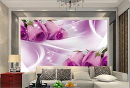 Custom 3d Moderne Tapeten Wandbilder Lila Rosen Foto Hintergrund Fr Wohnzimmer Tapete Im Angebot