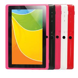 Couleur dual quad en Ligne-Vente en gros Yuntab Q88 7 pouces Wifi couleur rose Tablette Android 4.4, Quad Core, 8G ROM 1G RAM, double caméra, 3G externe, Allwinner A33 comprimé
