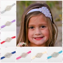12 color Flower Girl Rhinestone Headband, Flower Girl Hair Accessory