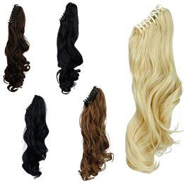 La mandíbula para el cabello en venta-Señora de Halloween de las mujeres al por mayor-Joyería de la manera / clip de la cola de caballo de la pieza de pelo de la coleta de la garra en Extensiones del pelo Extensión 140g Negro