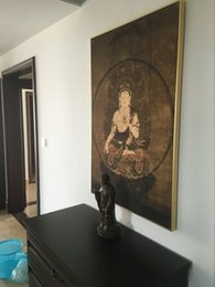 Wholesale Thousand pictures like vanity Bodhisattva Thangka entrance decoration painting wall mural paintings of Chinese Library Office