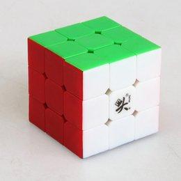 Descuento dayan juguete Dayan Zhanchi cubo de la velocidad 3x3x3 rompecabezas mágico juguete profesional del cubo mágico liso del cabrito
