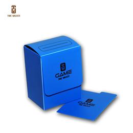 (BLUE)Time Walker Storage Box, MTG Cards Deck Box, Trading Cards Deck Storage Box for Magic Poke Yugioh Cardfight Vanguard
