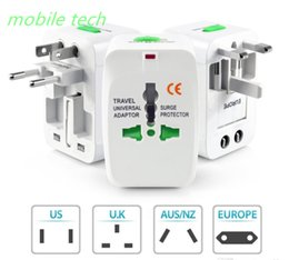 Wholesale Surge Wholesale - Travel Universal Wall Charger AC Power Adapter For Surge Protector International AU UK US EU Plug All in One Chargers