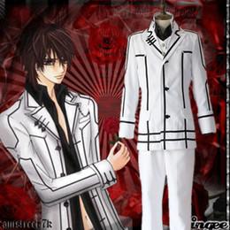 Kuran Kaname cosplay costumes white man uniforms Japanese anime Vampire Knight clothing Masquerade Mardi Gras Carnival supply from stocK