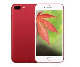 2017 pouces 1gb Couleur rouge Jet Black Goophone i7 plus 1 Go de RAM 8 Go de téléphones cellulaires 5,5 pouces MTK6582 Quad Core 4g lte 2G 128G Boîte scellée DHL libre contre s8 bord budget pouces 1gb