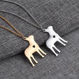 Скидка американские собаки 2017 Американский кулон ожерелья собаки звероловства серебра серебряный Ожерелья малых ожерель женщин горячий продавая фабрику животных Handmade