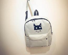 School Teenager Cat Sac à dos Mode Jeunes Filles Garçons Solid Couleur Blanc Noir Sac à bandoulière de voyage en plein air Day Pack à partir de sacs de jour noir fournisseurs