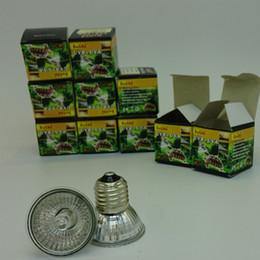 Wholesale Terrarium Halogen tungsten UVA UVB Sunning Heat Lamp Watt Bulb E27 Base emits a broad spectrum Basking light