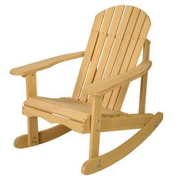Wholesale Outdoor Natural Fir Wood Adirondack Rocking Chair Patio Deck Garden Furniture