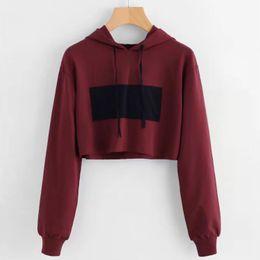 belly button hoodie autumn and winter Europe and America women's wear new high waist lu's Sweatshirt