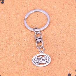 New Fashion musical disc Keychains Antique Silver plated Keyholder fashion Solid Pendant Keyring gift