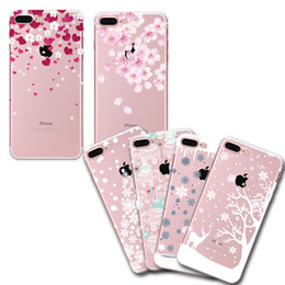 0.5mm UV Painted Snowflake+Elephant Crystal Clear Soft TPU Case for iPhone 6 6s 7 6 6s 7 Plus 5.5' Cover Fundas