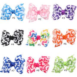 READY TO SHIP, 13 colors rainbow chevron hair bow, chevron bow, boutique hair bow, chevron hairbow
