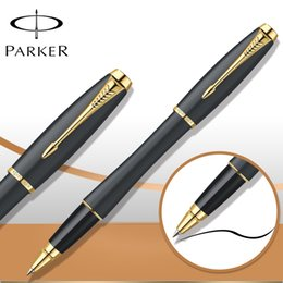 6 Colors Parker Pen Roller Ball Pen Stationery Silver   Gold Clip Parker Urban RollerBall Pen Luxury Business Writing Supplies