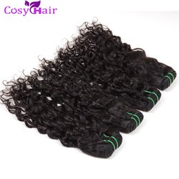 Vague d'eau armure bouclée en Ligne-Cosy Peruvian Curly Hair 6 Bundles Deal Indian Brazilian Malaysian Water Wave Les cheveux humains accroît les extensions Virgin Human Hair Weft