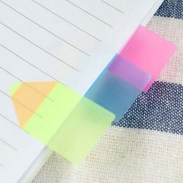 Nouveau 10 ensembles / lot de bonbons en plastique Couleur Pencil Stub forme Memo Pad Fluoresc Notes autocollantes Post It Page Flag index avec 15 Cm Rulers Papelaria à partir de note crayon fabricateur
