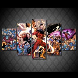 5 Pcs Set Framed HD Printed X Men Deadly Genesis Pictures Picture Wall Art Canvas Print Decor Poster Canvas Oil Painting