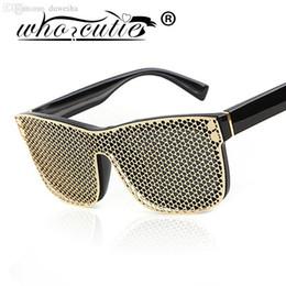 Promotion or gros cadres lunettes Grossiste-OMS CUTIE Vintage Square Oversize Lunettes de Soleil Femmes Marque Designer Shades Mode Gold Frame Lunettes Hommes Lunettes de Luxe