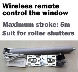 Wholesale AC Tubular Motorized Roller shutters Curtains Motor Remote Control by Broadlink or Geeklink or Remote Button Suit for mm Tube