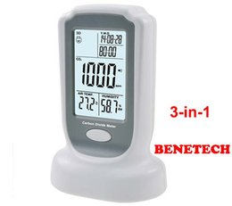 Wholesale BENETECH GM8802 Digital CO2 Meter CO2 monitor meter detector Carbon Dioxide Detector Temperature Humidity test