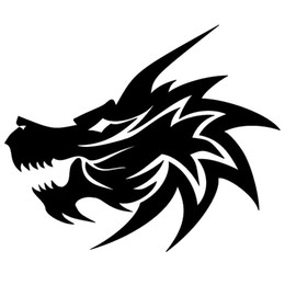 Car window decal truck outdoor sticker dragon wicked fire cool evil