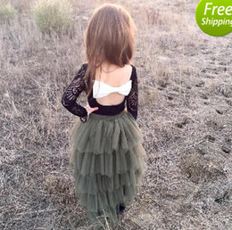 Girls Lace Tutu Cake Skirts 2017 New Summer Cotton Cake Party Skirts Girls princess skirts A5781