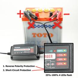 Promotion 12v ac chargeur 12V 5A automatique chargeur de batterie intelligent, mainteneur désulfateur pour les batteries au plomb, chargeur de batterie de voiture 100-240V entrée AC