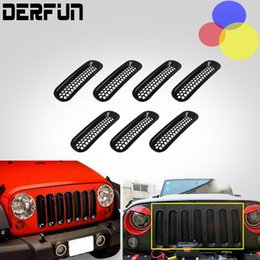 Wholesale Mesh Front Grille Trim Cover For Jeep wrangler JK Parts Grilles Decoration Sticker ABS Good quality
