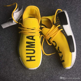 Wholesale 2017 Cheap Online High Quality Hot NMD quot HUMAN RACE quot Pharrell Williams X Men Women Classic Fashion Running Shoes With Box