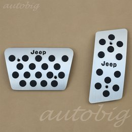 Wholesale AT Aluminum Foot Pedal Plate Brake Gas FOR Jeep Wrangler JK Automatic Interior