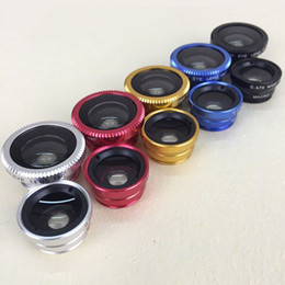 New 3 in 1 Lens Metal Clip Fisheye Lens Universal Wide Angle Micro Lens for universal Mobile Smart Cell Phone