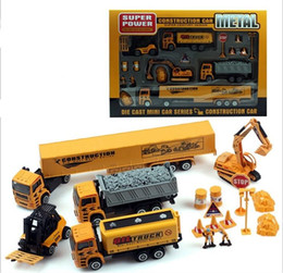 educational toys for children engineering truck digger truck and trailers Pullback Racers
