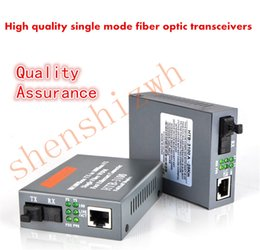 Wholesale New Htb Optical Converter Fiber Transceiver Single Fiber Converter km SC M Single mode Single Fiber for US EU