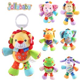 wholesale jollybaby Child Appease Music Bell Doll 7 Designs Colorfull Plush Toys Cute Baby Bed Strollers Rattles Bell
