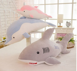 Manufacturers sell the new software shark dolphins plush toy doll aquarium series pillow manufacturer wholesale
