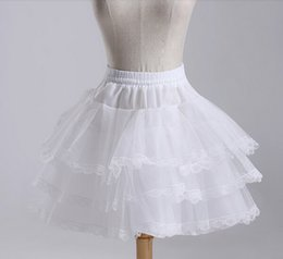 2017 Brand New Short Petticoats Stock White Hoopless Wedding Accessories 3 Layer Crinoline Bridal Lady Girls Children Underskirt