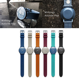 Newest Replacement Multicolor 18MM TPU+TPE Wrist Band Strap Accessory For Withings Activite Pop Steel Sapphire FC0069
