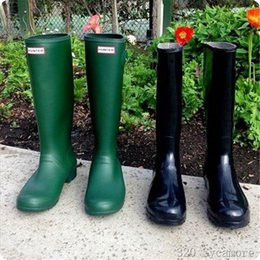 Wholesale Choice Color Rose - Long Boots Hunter Boots For Women Rubber Hunter Wellies Women Fashion Hunter Boots 10 Color For Choice