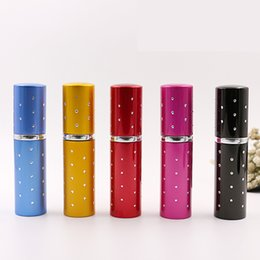 5 Color 10CC 10ml diamond drill aluminum perfume bottle Amazing Travel Perfume Atomizer Refillable Empty bottles