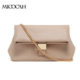 New Arrival Women Messenger Bags Metal Chains Women Leather Handbags 2 Colors NCS061